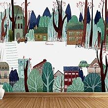 Wolipos 3D Tapete Wandbild Nordische Gemalte
