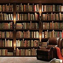 Wolipos 3D Tapete Wandbild Retro Sofa Bücherregal