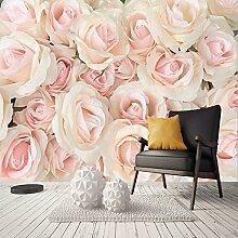 Wolipos 3D Tapete Wandbild Romantische Rosa Rose