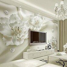 Wolipos 3D Tapete Wandbild Seidenblume Großes