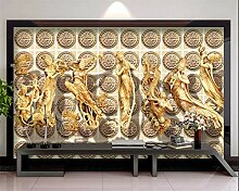 Wolipos 3D Tapete Wandbild Steinrelief