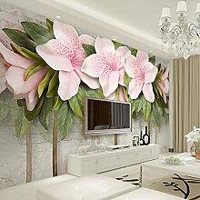 Wolipos 3D Tapete Wandbild Stereoskopische Rosa