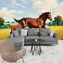 Wolipos 3D Tapete Wandbild Tierpferd Abdecken