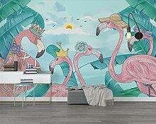 Wolipos 3D Tapete Wandbild Tropische Pflanzen