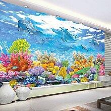 Wolipos 3D Tapete Wandbild Unterwasser Malerei