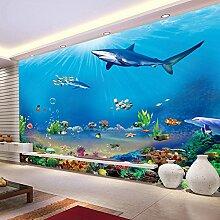 Wolipos 3D Tapete Wandbild Unterwasser Modern
