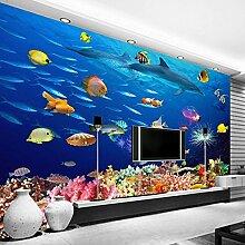 Wolipos 3D Tapete Wandbild Unterwasserwelt