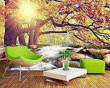 Wolipos 3D Tapete Wandbild Warmer Sonnenschein