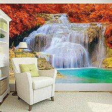 Wolipos 3D Tapete Wandbild Wasserfall Landschaft