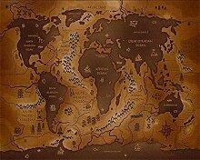 Wolipos 3D Tapete Wandbild Weltkarte Seekarte