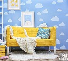 Wolke Kinderzimmer Schablone Heim Wand Dekoration & Handwerk Schablone Wolke Himmel Thema Wand Dekoration Wandfarbe Stoffe & Möbel 190 Mylar Wiederverwendbare Schablone