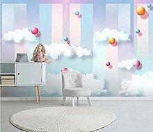 Wolken 3d fototapete wandbild für wohnzimmer