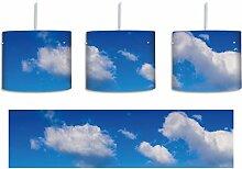 Wolken am blauen Himmel inkl. Lampenfassung E27,