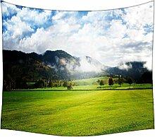 Wolken und Garten Wandteppichen indischen Mandala Tapisserie Dekorative Wohnheim Wandteppichen Beach Picknick Tabelle Hippie Tapisserie Wand, Bohemian