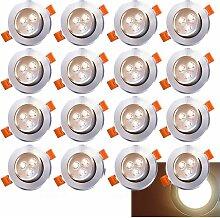 wolketon 20x LED Einbaustrahler Einbau-Spots