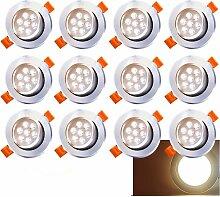 wolketon LED Einbaustrahler Schwenkbar 12X 7W 230V