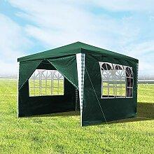 wolketon Pavillons 3x3m Gartenpavillon mit 4
