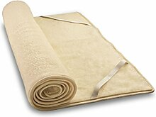 Woll-Kinder-Plüschunterbett aus Schafschurwolle und Baumwolle 50x90 cm, Baumberger. Matratzenauflage, Matratzenschoner
