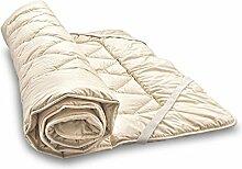 Woll-Unterbett aus Bio-Schafschurwolle und Bio-Baumwolle 200x210 cm, Baumberger. Matratzenauflage, Matratzenschoner