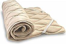 Woll-Unterbett weich aus Bio-Schafschurwolle und Bio-Baumwolle 100x210 cm, Baumberger. Matratzenauflage, Matratzenschoner