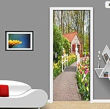 wollcan Schöner Gartenweg Foto Tapete Tür