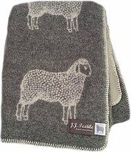 Wolldecke–Schaf–Grau