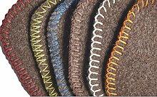 Wolldecke aus reiner Schurwolle 100% Merinowolle in verschiedenen Größen und Farben - Natur pur - ökologisch ungefärbt, Größe Decken:155 x 220, Decke Umkettelung:Naturbraun_Gelb