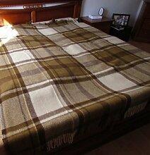 Wolldecke, Bettüberwurf Decke, Sofaüberwurf, 200x240