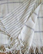 Wolldecke doppelseitig mit Kaschmirwolle, Tagesdecke 140x175 cm 100% Wolle