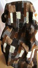 Wolldecke Einseitig Einfach 135x200 Bettüberwurf