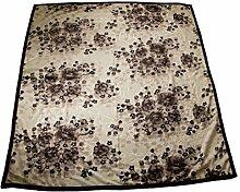 Wolldecke Hanna Orientalische Blumen für 2 Personen ON-8 Polyester Wohndecke Kuscheldecke Decke