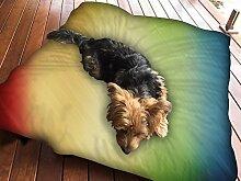 Wolldecke Multicolor Design Hundebett Pet Supplies Große extra Größe XL Reißverschluss mit Innenkissen