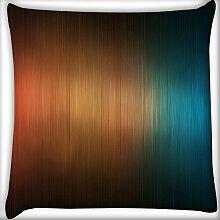 Wolldecke orange und blau Design Home Decor Werfen Sofa Auto Kissenbezug Kissen Fall 30,5x 30,5cm