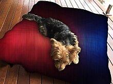 Wolldecke rot blau Design Hundebett Pet Supplies Große extra Größe XL Reißverschluss mit Innenkissen