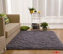 Wolldecke Schlafzimmer Wohnzimmer Couchtisch Seite drift Bereich Eingang Teppich Teppich Teppich, 140 x 200 cm, 3 cm Silber Grau