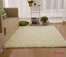 Wolldecke Schlafzimmer Wohnzimmer Couchtisch Seite drift Bereich Eingang Teppich Teppich Teppich, 100*110 cm, 4,5 m, weiß