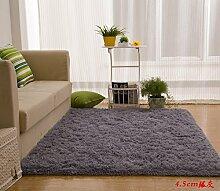 Wolldecke Schlafzimmer Wohnzimmer Couchtisch Seite drift Bereich Eingang Teppich Teppich Teppich, 80 x 200 cm, 4,5Cm Silber Grau