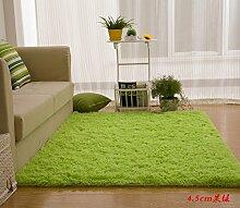 Wolldecke Schlafzimmer Wohnzimmer Couchtisch Seite drift Bereich Eingang Teppich Teppich Teppich, 100*110 cm, 4.5cm apfel grün