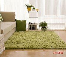 Wolldecke Schlafzimmer Wohnzimmer Couchtisch Seite drift Bereich Eingang Teppich Teppich Teppich, 63 x 160 cm, 3 cm Gras grün