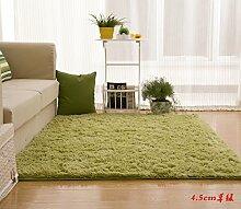 Wolldecke Schlafzimmer Wohnzimmer Couchtisch Seite drift Bereich Eingang Teppich Teppich Teppich, 120 x 200 cm, 4.5cm Gras grün