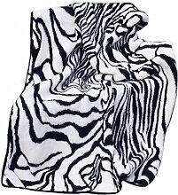 Wolldecke Schurwolle Giraffe Zebra 100% Merino