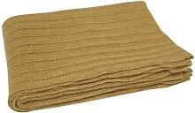 Wolldecke, Tagesdecke, Cash Wool Decke, ocker gelb, 130x180cm, A.U. Maison (61,95 EUR / Stück)