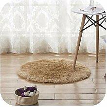 Wolldecke-Teppich Circular Fluffy Teppiche