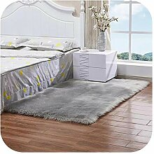 Wolldecke-Teppich | Weiß Plüsch Tierhaut Teppich