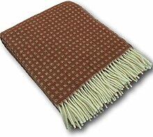 Wolldecke Überwurf Wollplaid Decke 100% Wolle