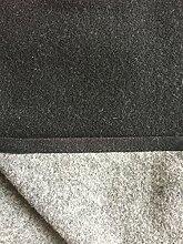 Wolldecke, Wendeplaid anthrazit/grau mit Kaschmir