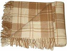 Wolldecke - Wolle 140 x 200cm Plaid Blanket