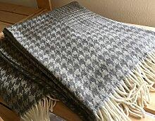 Wolldecke Wollplaid, Tagesdecke, Sofadecke 140x180 cm 100% Wolle