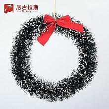 Wolle 30cm Weihnachten Girlanden Gras rattan Ring Ring Tür-Fenster Wandbehänge Kleiderbügel