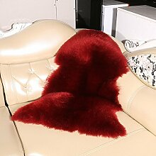 Wolle Schaffell Teppich Fluffy Area Teppiche